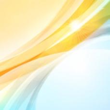 炫彩光线光效背景矢量素材