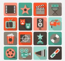 16款精致电影元素图标矢量素材