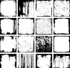 16款黑色边框设计矢量素材图片