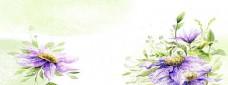 唯美花朵背景海报