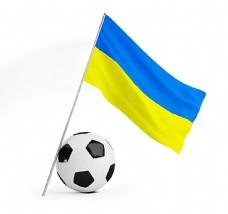 足球与国旗背景