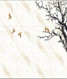小鸟背景墙
