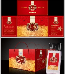 大米高档礼盒包装图片