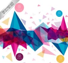 彩色几何形商务信息图图片