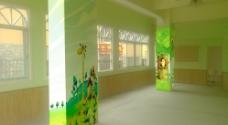 幼儿园墙绘柱子图片
