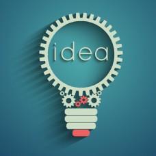 齿轮灯泡IDEA创意海报