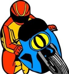 摩托车 交通工具 矢量 AI0006