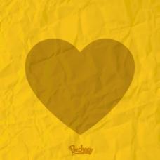 黄色心形高清图