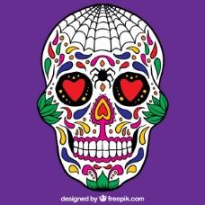 丰富多彩的墨西哥头骨
