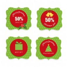 四款PSD和EPS新年标签设计