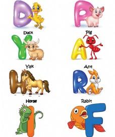 动物和字母