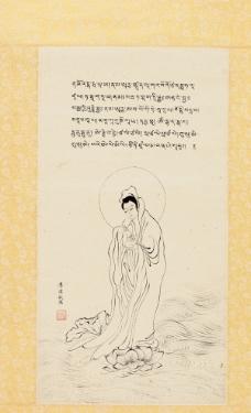 观世音像藏文大悲咒图片