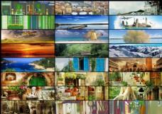 25张淘宝国外风景海报背景图片素材
