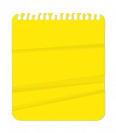 螺旋笔记本纸 柠檬黄色矢量背景