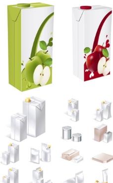 各种包装盒矢量素材图片