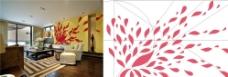 花瓣 背景墙图片