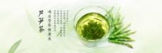 绿茶芦笋茶养生海报banner