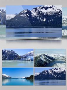 惊人的雪山景观超清实拍素材