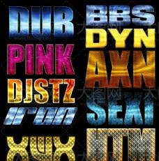 10款另类的金属质感艺术字PS样式