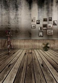 室内一角高清PSD下载照片墙