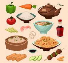 中式美食矢量