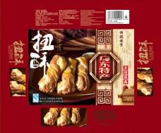 扭酥食品包装PSD图片