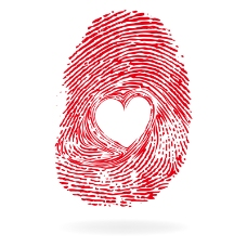 创意爱心指纹矢量素材