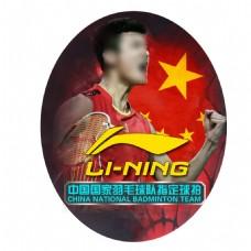 李宁羽毛球拍面卡