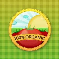 番茄标签矢量素材