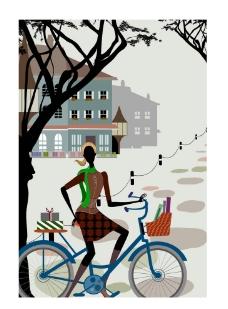 时尚女性生活场景之骑车图片