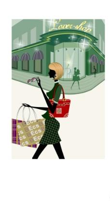 时尚女性生活场景之购物图片