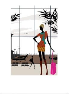 时尚女性生活场景之机场图片