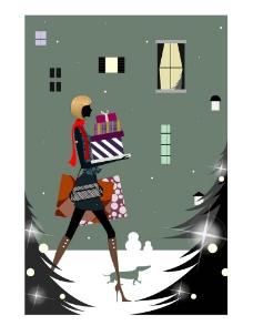 时尚女性生活场景之圣诞礼物图片