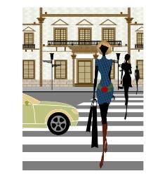 时尚女性生活场景之逛街图片