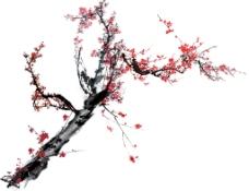 水墨 梅花   素材  中国风