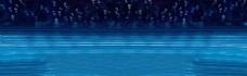 深蓝海底亮点背景图