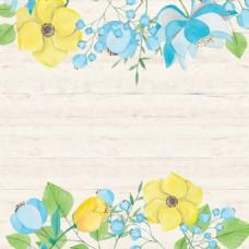 小清新花朵绿叶背景