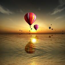 热气球风景主图
