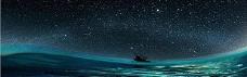绚丽夜景星空淘宝海报背景