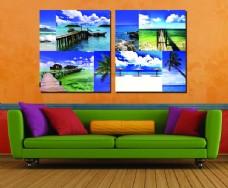 大海风景壁画