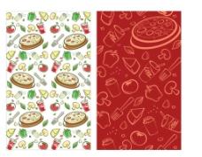 可爱食物底纹图片