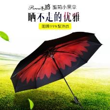 雨伞防晒太阳伞本鸥小黑伞首图主图直通车图