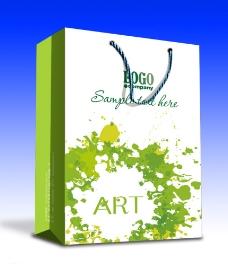 绿色手提袋 平面图图片