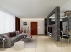 现代简洁的客厅图片