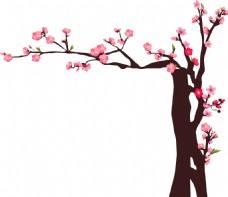 造型梅花树ai矢量灯笼元素