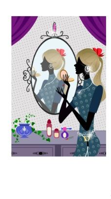 时尚女性化妆图片