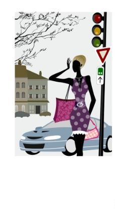 时尚女性生活场景图片