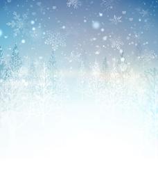 梦幻雪中林海风景
