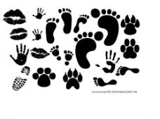 唇印 脚印  动物脚图片