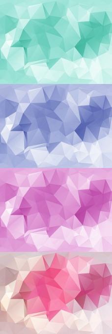 绚丽色块拼接纹理时尚几何图形背景矢量素材